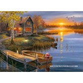 Jigsaw puzzle 500 pcs - Autumn at the Lake (by Clementoni)