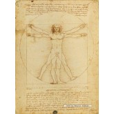 1000 pcs - Vitruvian Man - Leonardo Da Vinci (by Clementoni)