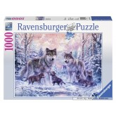 1000 pcs - Arctic Wolves (by Ravensburger)
