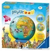 Jigsaw puzzle 108 pcs - Kids Earth - Puzzleball Junior (by Ravensburger)