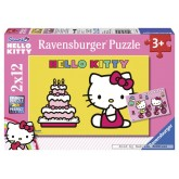 Jigsaw puzzle 12 pcs - Hello Kitty and her Birthday - Hello Kitty (by Ravensburger)