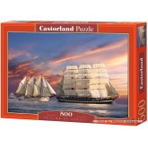 Jigsaw puzzle 500 pcs - Sailing at Sunset (by Castorland)