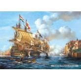 Jigsaw puzzle 2000 pcs - Battle of Porto Bello, 1739 (by Castorland)