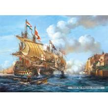 Jigsaw puzzle 2000 pcs - Battle of Porto Bello, 1739 (by Castorland)