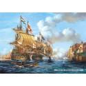 2000 pcs - Battle of Porto Bello, 1739 (by Castorland)