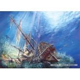 Jigsaw puzzle 2000 pcs - Sunk Galleon (by Castorland)
