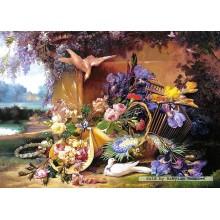 Jigsaw puzzle 2000 pcs - Elegant Still Life with Flowers, Eugene Bidau (by Castorland)