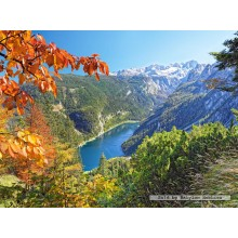 Jigsaw puzzle 2000 pcs - Navy blue  lake in the Alps (by Castorland)