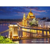 Jigsaw puzzle 2000 pcs - Budapest view at dusk (by Castorland)