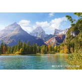 Jigsaw puzzle 1500 pcs - Mountain peaks over the lake (by Castorland)