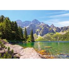 Jigsaw puzzle 1000 pcs - Morskie Oko lake, Tatras, Poland (by Castorland)