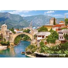 Jigsaw puzzle 1000 pcs - Mostar, Bosnia and Herzegovina (by Castorland)