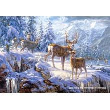 Jigsaw puzzle 1000 pcs - Winter mountain (by Castorland)