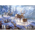 1000 pcs - Winter mountain (by Castorland)