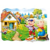 Jigsaw puzzle 30 pcs - Three Little Pigs - Shaped (by Castorland)