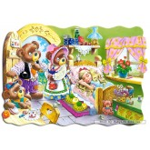 Jigsaw puzzle 30 pcs - Goldilocks - Shaped (by Castorland)