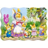 Jigsaw puzzle 30 pcs - Rabbit Family - Shaped (by Castorland)