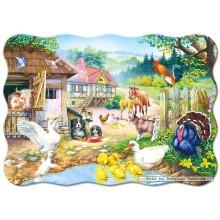Jigsaw puzzle 30 pcs - Farm - Shaped (by Castorland)
