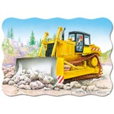 Jigsaw puzzle 30 pcs - Bulldozer - Shaped (by Castorland)