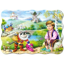 Jigsaw puzzle 30 pcs - Cat in Boots - Shaped (by Castorland)
