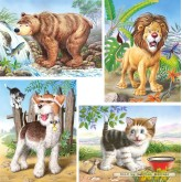 Jigsaw puzzle 8 pcs - Animals - Progressive (by Castorland)