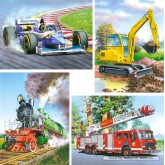 Jigsaw puzzle 8 pcs - Vehicles (by Castorland)