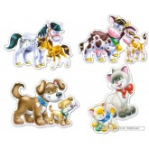 4 pcs - Animals with Babies - Baby (by Castorland)
