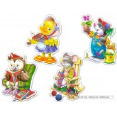 Jigsaw puzzle 4 pcs - Leisure Time - Baby (by Castorland)