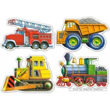 Jigsaw puzzle 4 pcs - Vehicles - Baby (by Castorland)