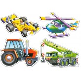 Jigsaw puzzle 4 pcs - Various Vehicles - Baby (by Castorland)