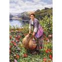 1500 pcs - The Grass Cutter, Daniel Ridgway Knight (by Castorland)