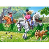 Jigsaw puzzle 260 pcs - Horse Jumping (by Castorland)