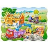 Jigsaw puzzle 30 pcs - Building a House - Shaped (by Castorland)