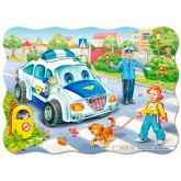 Jigsaw puzzle 30 pcs - Way to School - Shaped (by Castorland)