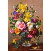 Jigsaw puzzle 1500 pcs - Summer Flowers in a Glass Vase, Albert Williams (by Castorland)