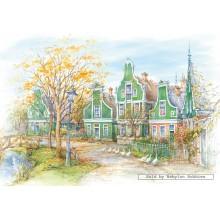 Jigsaw puzzle 1500 pcs - Zaanse Schans, Holland (by Castorland)