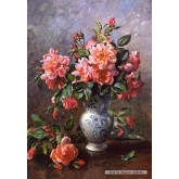 Jigsaw puzzle 1000 pcs - Still Life Roses in China Vase, Albert Williams (by Castorland)