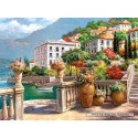 2000 pcs - A peaceful Oasis on the Lake Como (by Castorland)
