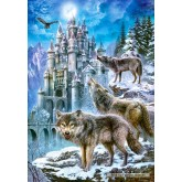 Jigsaw puzzle 1500 pcs - Wolves and Castle (by Castorland)