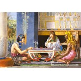 Jigsaw puzzle 1000 pcs - Egyptian Chess Players, Alma Tadema (by Castorland)