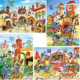 Jigsaw puzzle 30 pcs - Knight Adventures - Progressive (by Castorland)