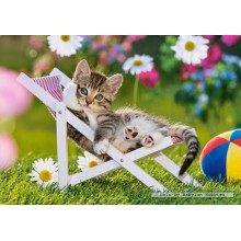Jigsaw puzzle 500 pcs - Kitten with Toy Ball (by Castorland)