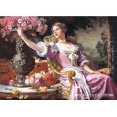Jigsaw puzzle 3000 pcs - Lady in Purple Dress, W.Czachorski (by Castorland)