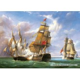 Jigsaw puzzle 3000 pcs - Combat, 21st April 1806, P.J. Gilbert (by Castorland)