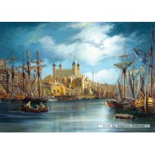 Jigsaw puzzle 3000 pcs - New Day at the Harbour (by Castorland)