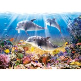 Jigsaw puzzle 500 pcs - Dolphins Underwater (by Castorland)