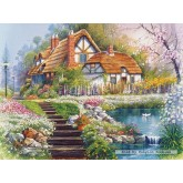 Jigsaw puzzle 3000 pcs - Cottage with Swans, Andres Orpinas (by Castorland)