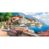 Jigsaw puzzle 4000 pcs - Idyllic Landscape of the Lake Como (by Castorland)