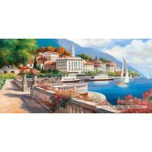 Jigsaw puzzle 4000 pcs - Idyllic Landscape of the Lake Como (by Castorland)