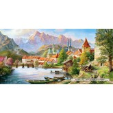 Jigsaw puzzle 4000 pcs - Town in the Mountain's Shadow (by Castorland)